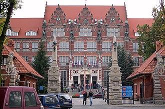 Wrzeszcz - The university, built as Königliche Technische Hochschule zu Danzig in Brick Gothic style.