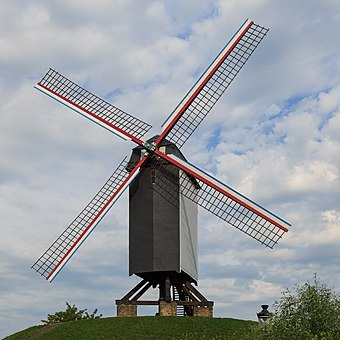 Windmills were among Abbasid inventions in technology. Bruges Belgium Windmill-Bonne-Chiere-01.jpg