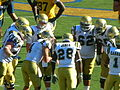 Bruins in huddle at UCLA at Cal 2010-10-09 2.JPG