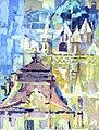 Budapest sorozat Szabadság tér II. olaj, vászon 42x54cm 2010.jpg