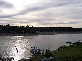 Harrison, Michigan - Looking southeast on Budd Lake