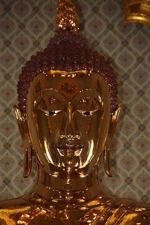 Golden Buddha (statue) - The shape of the statue's head dates it to the Sukothai period