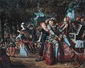 Buffoons in a play in open air, by Matthijs Naiveu.jpg