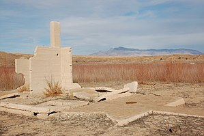St. Thomas, Nevada - These ruins at St. Thomas, NV were submerged under Lake Mead for many years.