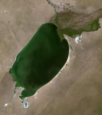 Buir Lake - Satellite image of Buir Lake