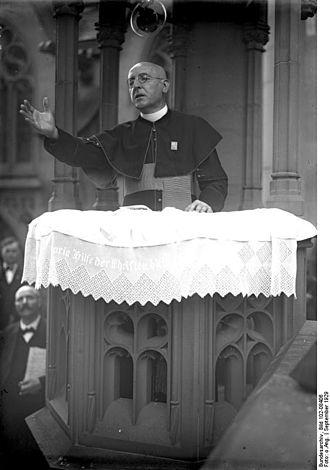 Ignaz Seipel - Seipel preaching at Bingen, 1929