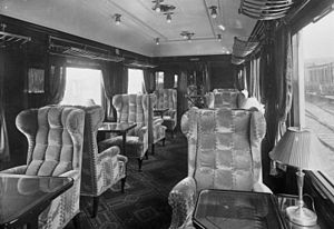 Rheingold (train) - Interior of a first class coach belonging to the Rheingold in September 1930