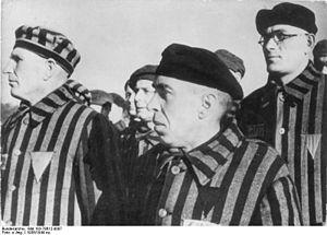 Nazi concentration camp badge - Image: Bundesarchiv Bild 183 78612 0007, KZ Sachsenhausen, Häftlinge bei Zählappel