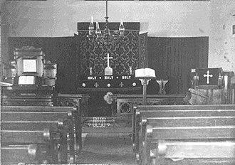Bung Bong - Interior of the 1876 Church of England