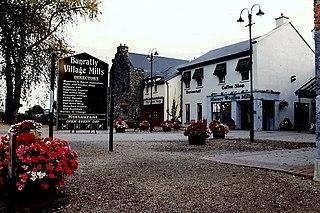 Bunratty Village in Munster, Ireland