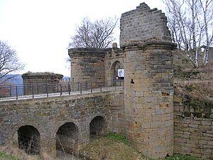 Ganerbenburg - One of the largest castle ruins in Franconia:  Altenstein near Maroldsweisach