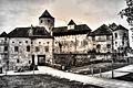 Burganlage, Halsgraben und Brücke zur Kernburg (8290105085).jpg