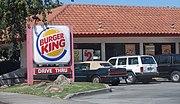 A Burger King restaurant in Redwood City, California