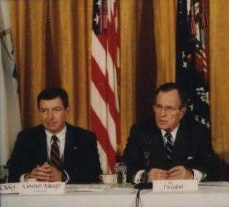 John Ashcroft - Ashcroft with President George H. W. Bush in 1991