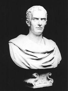 Busto di Tito Livio, opera di Lorenzo Larese Moretti (1858-1867).