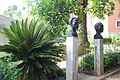 Busts by Manuel de Oliveira, from the Exposição do Mundo Português (1940 Exhibition of the Portuguese World) - Jardim Botânico Tropical - Lisbon, Portugal - DSC06561.JPG