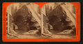 But-end section of the Original Big Tree - near view, showing the auger-holes made in felling, by Lawrence & Houseworth 3.png