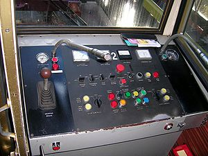 Wellington Cable Car - Control panel in one of the cable cars.