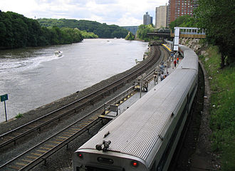 Metro-North Railroad - Marble Hill station on the Hudson Line
