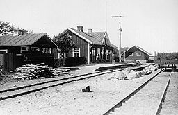 Byholma station 1922