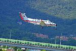 CAA MOTC Beechcraft Super King B350iER B-00101 on Final Approach at Taipei Songshan Airport 20150908g.jpg