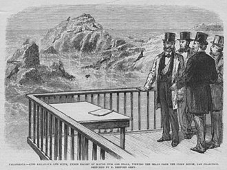 James Otis (politician) - King Kalākaua and his suite with Mayor James Otis and staff viewing seals on Seal Rock from Cliff House, San Francisco, 1874