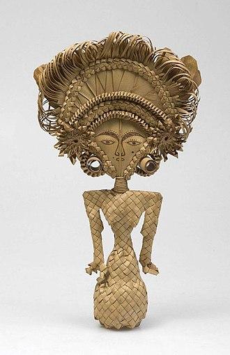 Dewi Sri - Cili, a Balinese Dewi Sri effigy from lontar palm leaf.