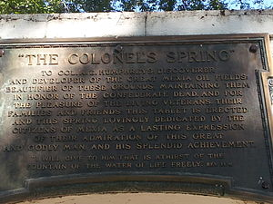 Confederate Reunion Grounds State Historic Site - Image: CRG spring
