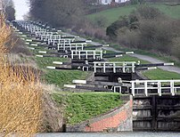 The flight of 16 consecutive locks at Caen Hil...