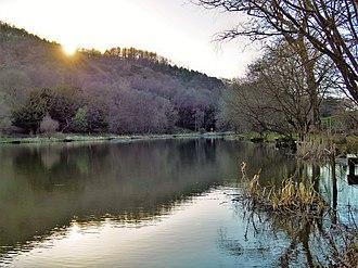 River Calder, Lancashire - Image: Calder Fishponds (upper) 1