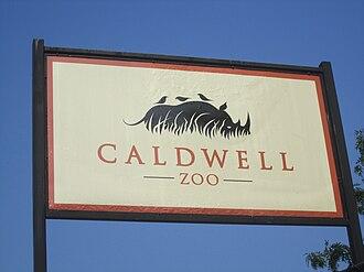 Caldwell Zoo - Image: Caldwell Zoo, Tyler, TX sign IMG 0551