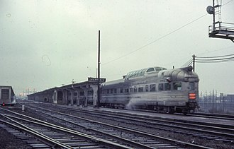 Aurora Transportation Center - California Zephyr at Aurora station in 1967