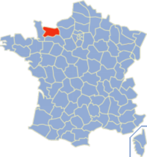Communes of the Calvados department - Image: Calvados Position