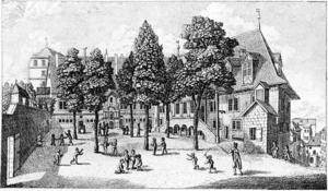 Collège Calvin - A 19th century engraving of the Collège Calvin.