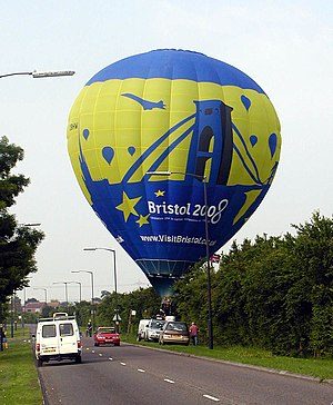 Cameron Balloons - A Cameron Z105 balloon near Bristol