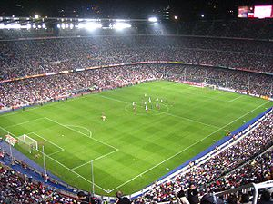 Sport in Barcelona - The Camp Nou, the largest stadium in Europe.