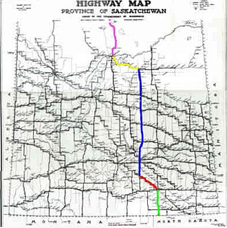 Saskatchewan Highway 6 - Image: Can Am Highway