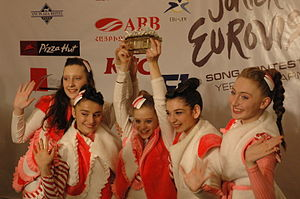 Georgia in the Junior Eurovision Song Contest 2011 - Candy after winning Junior Eurovision 2011