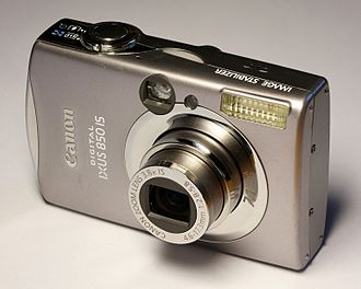 Point-and-shoot camera - A digital point-and-shoot camera made by Canon