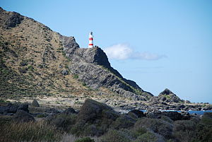 Storm of 1897 - Cape Palliser and lighthouse