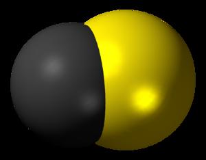 Carbon monosulfide - Image: Carbon monosulfide molecule spacefill