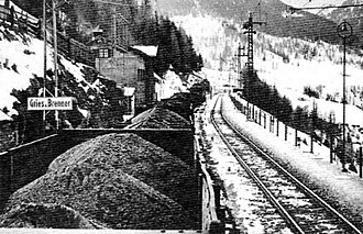 Brenner Pass - German coal entering Italy through the Brenner Pass.
