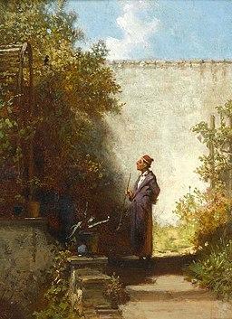 Carl Spitzweg Im Garten - Der Philosoph