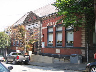 Lawrenceville Branch of the Carnegie Library of Pittsburgh - Image: Carnegie Libary Lawrenceville PHLF
