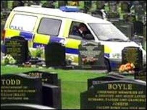 Carnmoney - Image: Carnmoney Cemetery police patrol 20060406