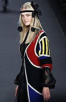 Caroline Trentini in Anna Sui Feb 2008, Photographed by Ed Kavishe for Fashion Wire Press.jpg