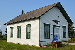 National Register of Historic Places listings in Ottawa County, Ohio - Image: Carroll Township Hall from southwest