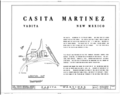 Casita Martinez, State Route 75, Vadito, Taos County, NM HABS NM,28-VADI,1- (sheet 1 of 3).png