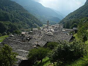 Castasegna - Castasegna village