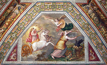 Este Castle of Ferrara, Fresco in the Dawn Room